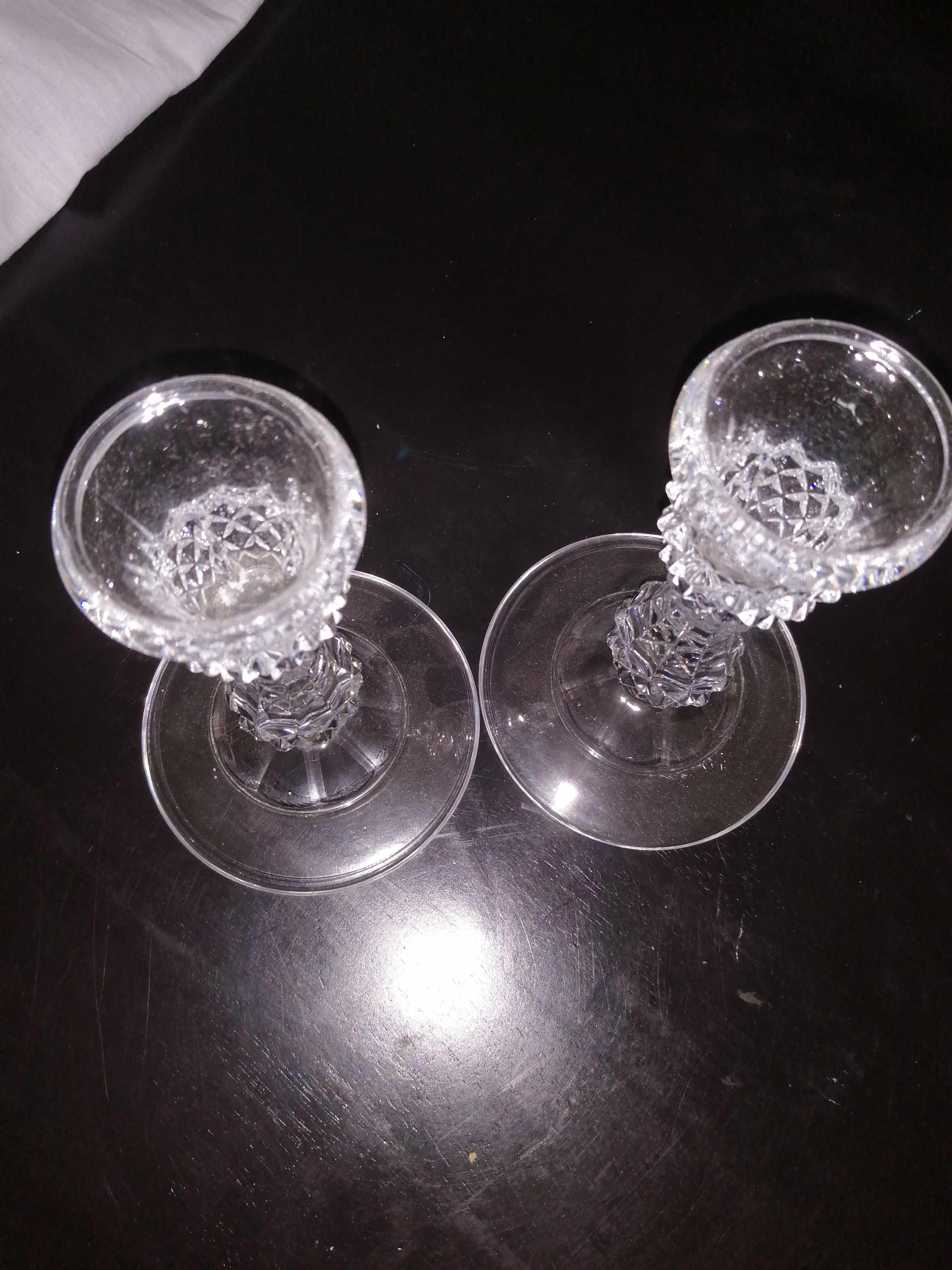 Castiçais de cristal