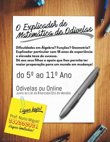 Explicador de Matemática em Odivelas/ONLINE