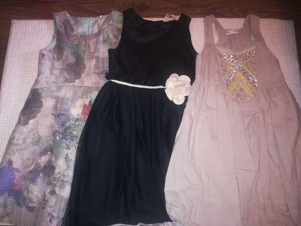 Sukienki 116 3 szt
