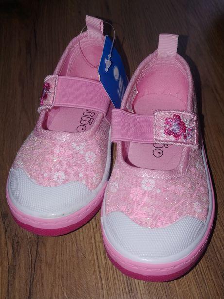 NOWE trampki balerinki buty buciki na gumce dla dziewczynki rozm. 23