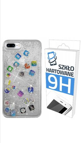 Etui, case do IPhone 8, szkło hartowane