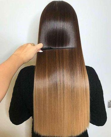 Кератиновое выравнивание волос 800грн