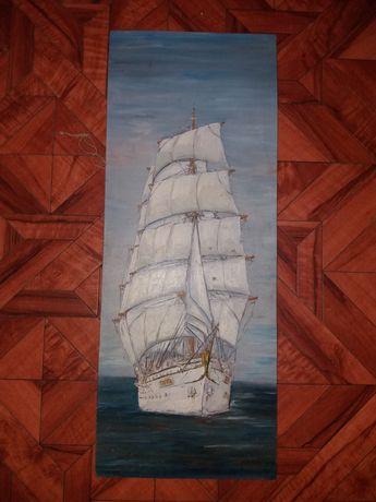 Картина корабль сувенир СССР