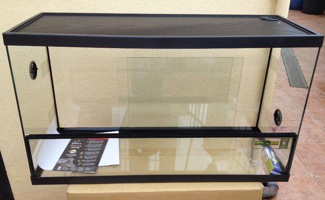 Terrário Reptiselva 80cm x 31cm x 46cm (Novo) com Kit