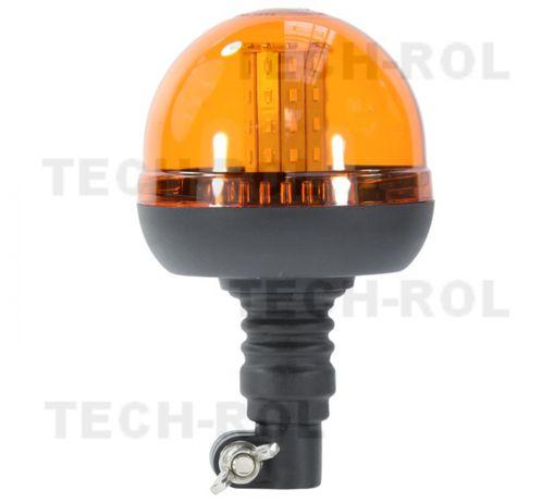 Lampa błyskowa ostrzegawcza kogut LED diodowa na trzpień giętki