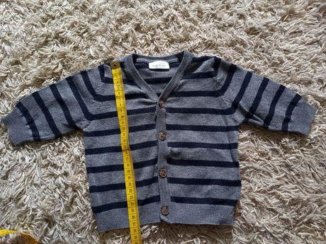 Sweter sweterek niemowlęcy rozpinany Next 62
