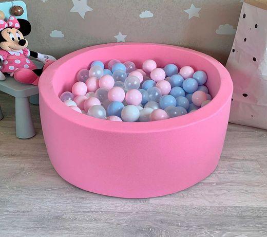 Детский сухой бассейн с шариками. Для мальчика и для девочки.