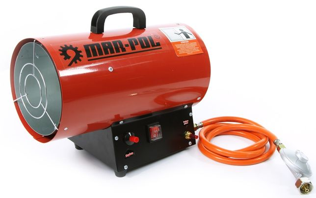 Nagrzewnica gazowa 15KW plus reduktor + wąż firma MARPOL