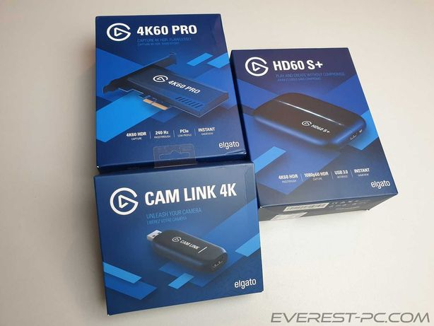 Нові наявність Elgato HD60 S+ / Cam Link 4K / 4K60 PRO MK.2 / 4K60 S+