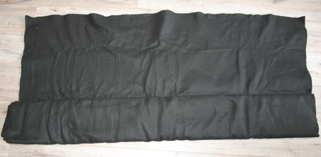 Ткань п/ш черная пальтовая отрез 2,93*1,56 м на пальто или костюм