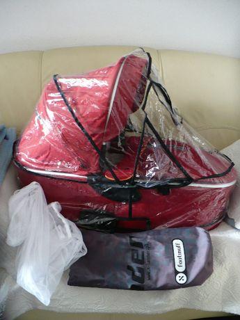gondola X-lander X-pulse z folią i moskitierą- czerwona