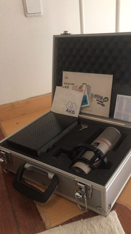 Akg solidtube microfone valvular vintage rarissimo novo no flightcase