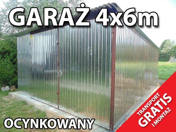 Garaż blaszany 4x6 garaże transport gratis wiata blaszak PRODUCENT
