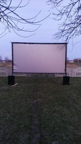 Екран для 3D фільмів зі срвбним напиленням для пасивних окулярів