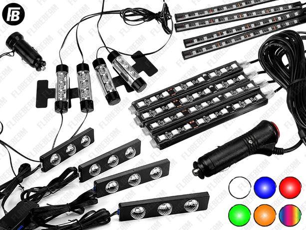 Подсветка ног/салона/пола автомобиля LED ЛЕД светодиодная диодная rgb