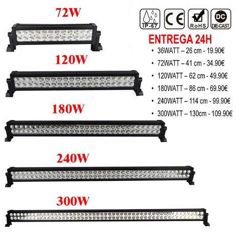 BARRAS LED 36Watt / 72Watt / 120Watt / 180Watt / 240Watt / 300Watt