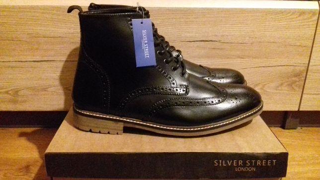 Silver Street London натуральная кожа Новые мужские ботинки - Оригинал