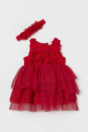 Czerwona sukienka H&M rozmiar 68