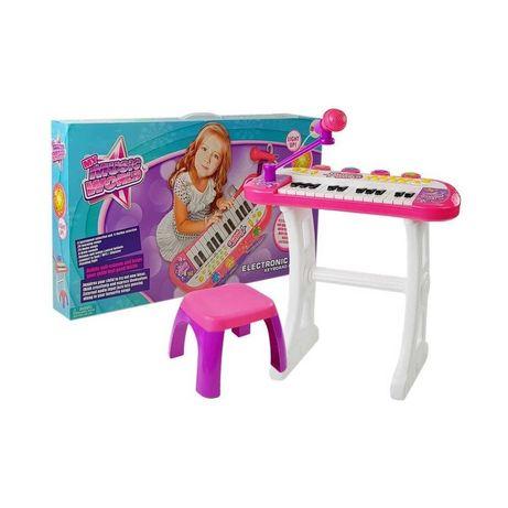 KEYBOARD ZE STATYWEM MIKROFONEM pianino organki zabawki interaktywne