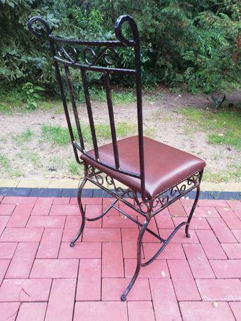 Krzesła kuchenne krzesło metalo plastyka ogród altana