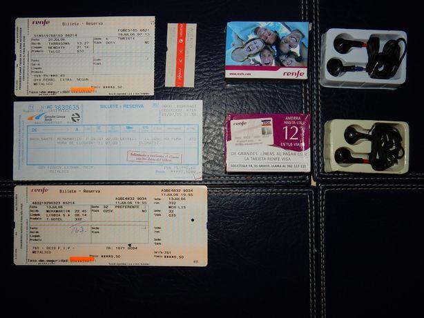 RENFE Zestaw biletów i gadżetów kolei hiszpańskich