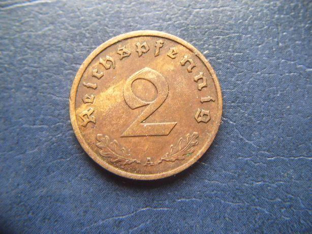 Stare monety 2 reichsfenigi 1938 A Niemcy / 3