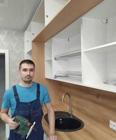 Сборка мебели, кухни, дивана, шкафа купе качественно и недорого