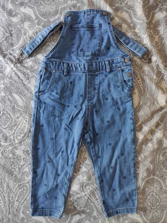 Jardineiras Zara ganga azul criança menina unissexo 2-3anos
