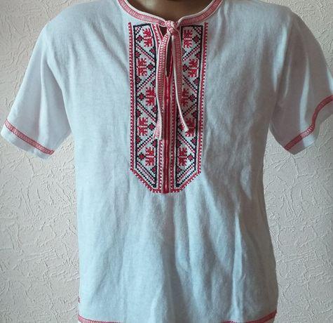 Белая рубашка вышиванка, майка футболка. Новое Цена 100гр