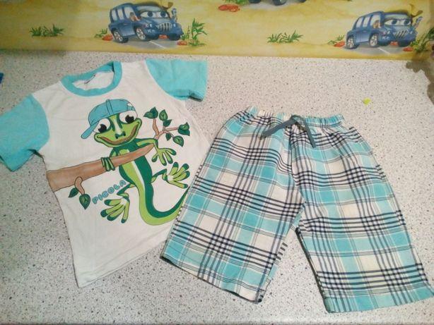 Продам срочно летние костюмы футболка майка шорты на мальчика 104-130р