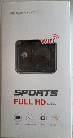 Kamera Sportowa Full HD WiFi Wodoodporna + Akcesoria