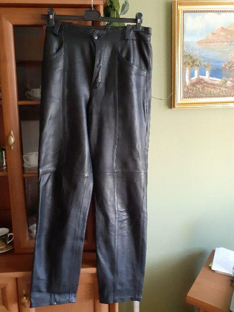 Spodnie ze skóry męskie na motocykl
