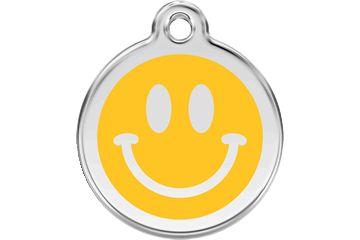 Адресник Red Dingo р.М Smiley Face Yellow
