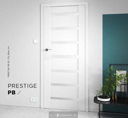 Drzwi Skrzydło Ramowe MDF PROMOCJA Montaż Gratis szare grafit białe