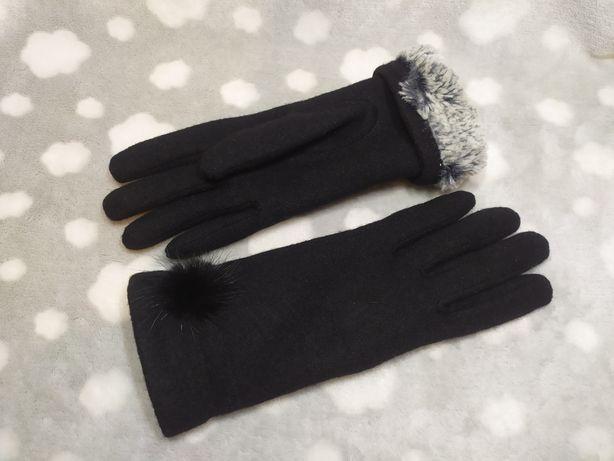 Перчатки женские тёплые на меху