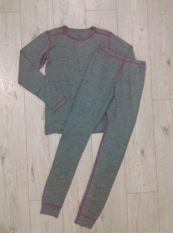 Cubus kpl bluzka+ getry 100% wool roz 134-140