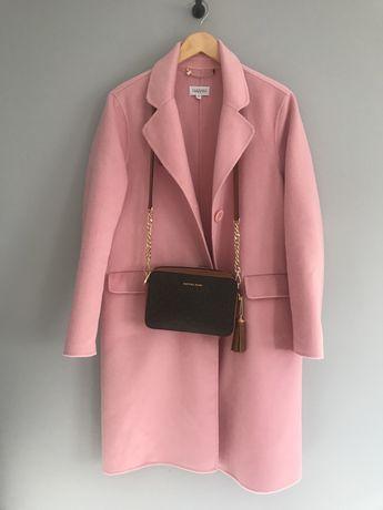 Taranko różowy pudrowy płaszcz wełniany wełna elegancki 40 L