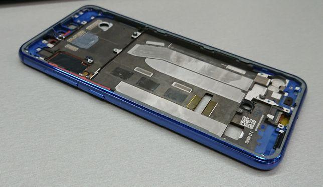 Рамка корпуса Xiaomi Mi9 SE Blue M1903F2G. С кнопками. Оригинал Ксиоми