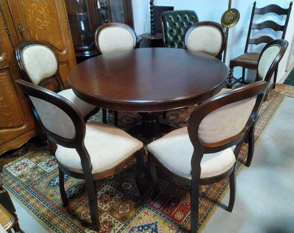Włoski komplet stół, krzesła 6 sztuk stan jak nowy