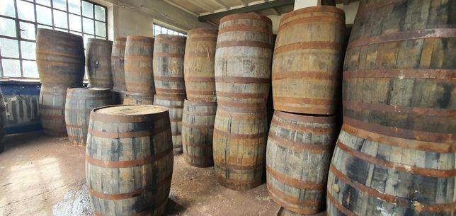 Beczka drewniana po whisky po winie dębowa szczelna stara beczka