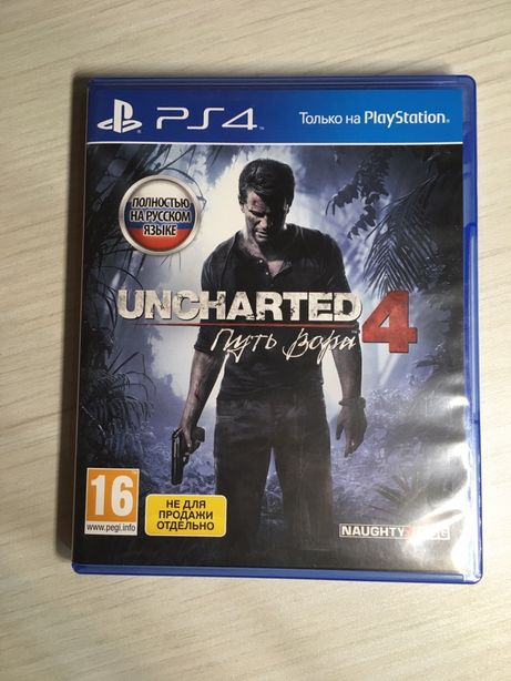 Uncharted 4 PS4 Диск