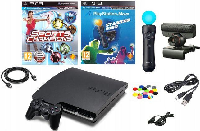 Sony PlayStation 3 Slim/Move+Zestaw gier