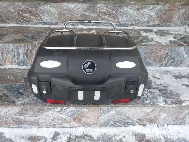 Kufer centralny hepco becker plus bagażnik