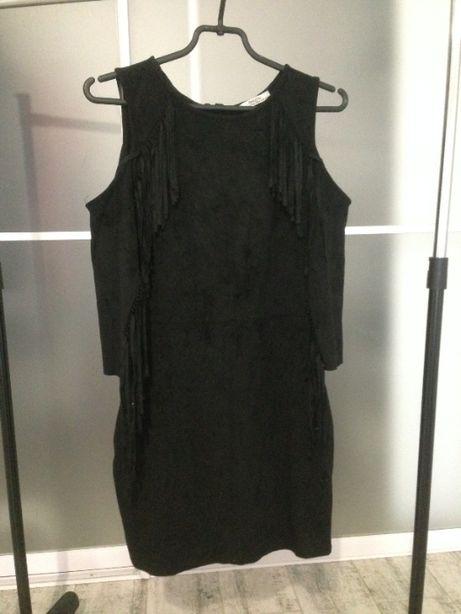 черное платье bershka