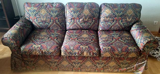 Sofa trzyosobowa Ikea Ektorp rozkładana z funkcją spania z 3 pokrowcam