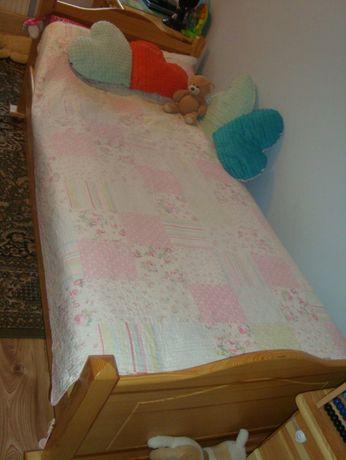 Łóżko sosnowe 200 cm/90 cm z szufladą