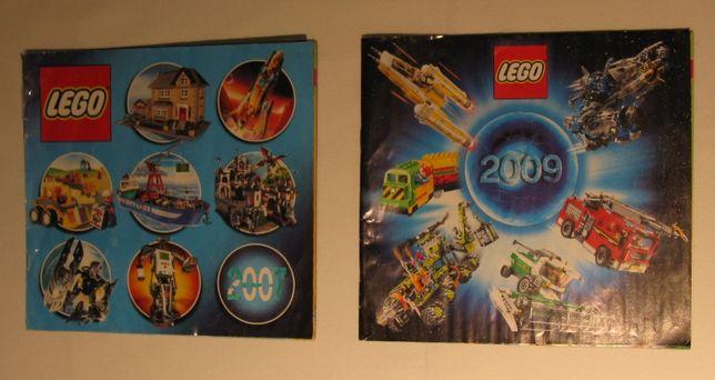 LEGO stare katalogi 2007 i 2009 unikat dla koneserów