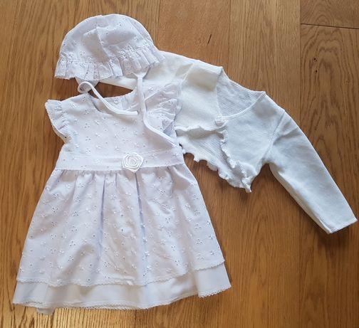Sukienka ubranko do chrztu rozm. 74