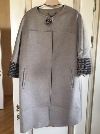 Пальто шерстяное нарядное, демисезонное, шерсть, кашемир, Турция