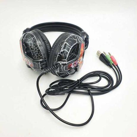 Наушники UKC E001 (игровые, с микрофоном + Led подсветка)
